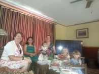 Tea time with my sister and nieces